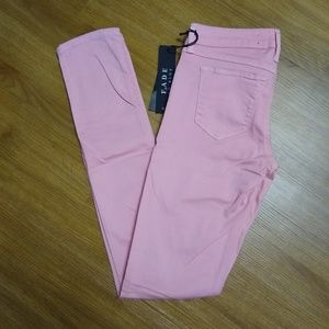 NWT [Fade to Blue] Super Skinny Pink Jeans